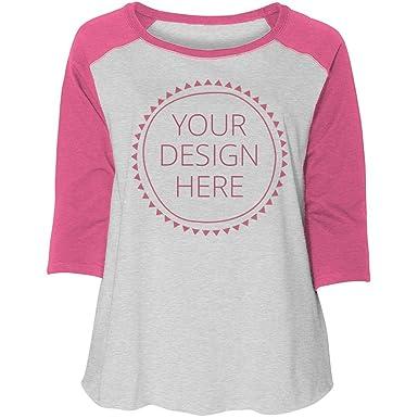 b97168cc Design a Custom Plus Raglan: Women's Curvy Plus Size Raglan Baseball Tee
