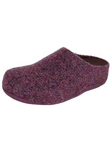 65d6ef79f2 Fitflop Womens Shuv Felt Slip On Clog Shoes