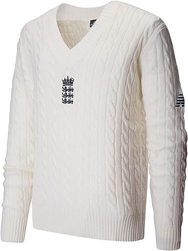 letal Insatisfactorio sirena  New Balance England Cricket Test Stadium Pullover: Amazon.co.uk: Clothing