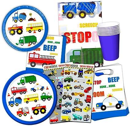 Amazon.com: Cars and Trucks Party Supplies - set de ...