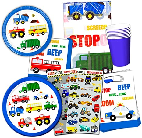 Amazon.com: Cars and Trucks Party Supplies - set de ...