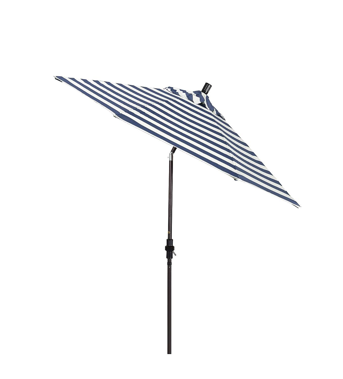 California Umbrella GSCUF908117-F96 Sun Master Series Patio Umbrella, Navy White