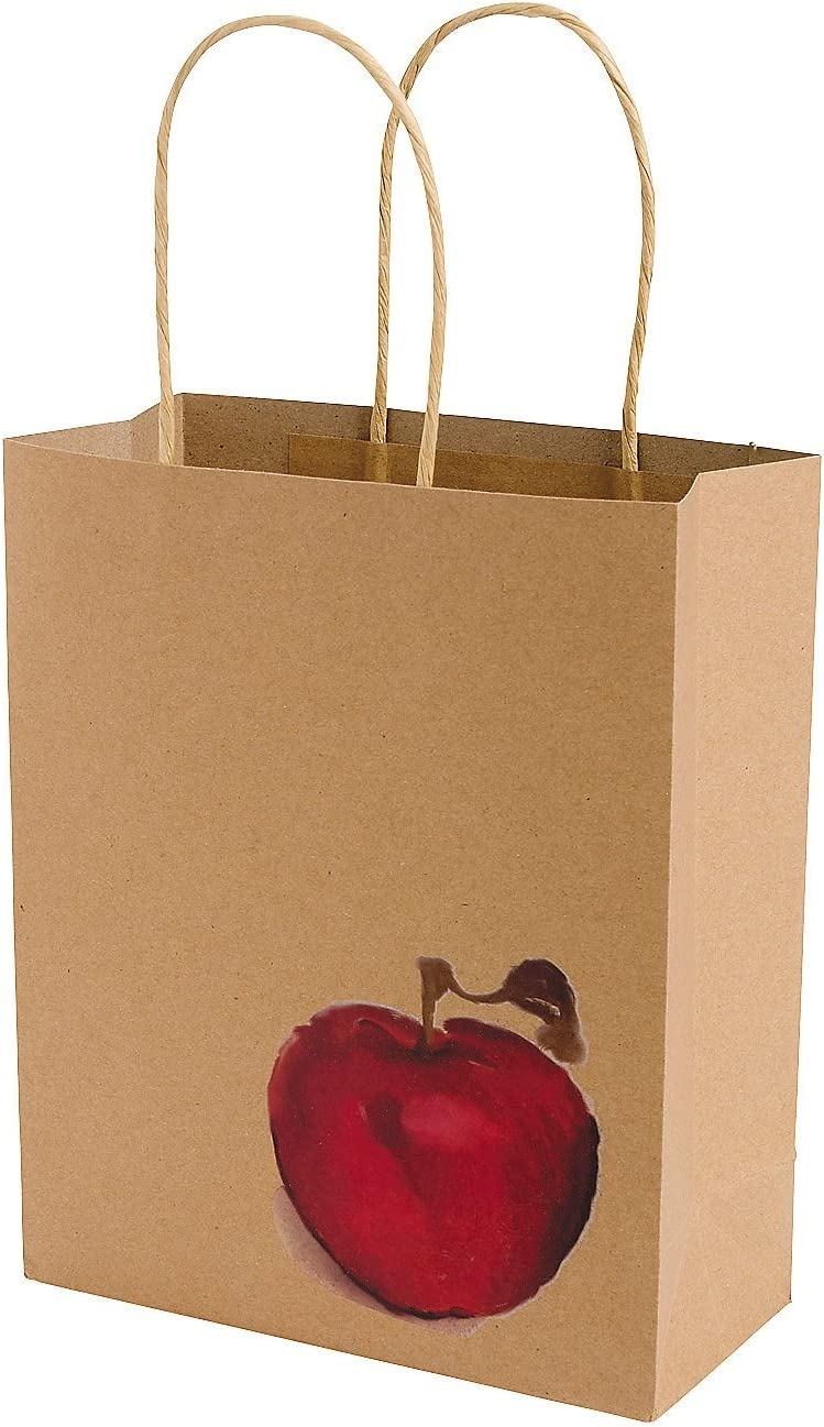 Fall Festival Apple Craft Bags (Set of 12) Fall Party Supplies