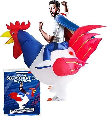 Original Cup - Disfraz Hinchable con Bomba de Aire USB, Traje Inflable Adultos para Fiesta, Conciertos, Halloween - Polla Gala