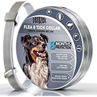 PEROZEK Flea Tick Prevention for Dogs - 8 Month Protection Collar - Essential Oil, Allergy Free Tick Control - One Size Fits All - Water Resistant Flea Tick Collar