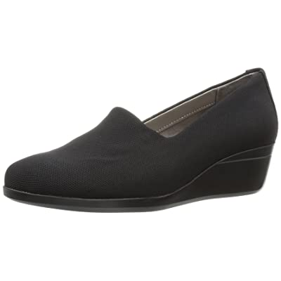 Amazon.com | Aerosoles Women's True Story Slip-On Loafer, Black Fabric, 12 M US | Loafers & Slip-Ons