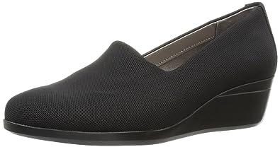Aerosoles Women's True Story Slip-On Loafer, Black Fabric, ...