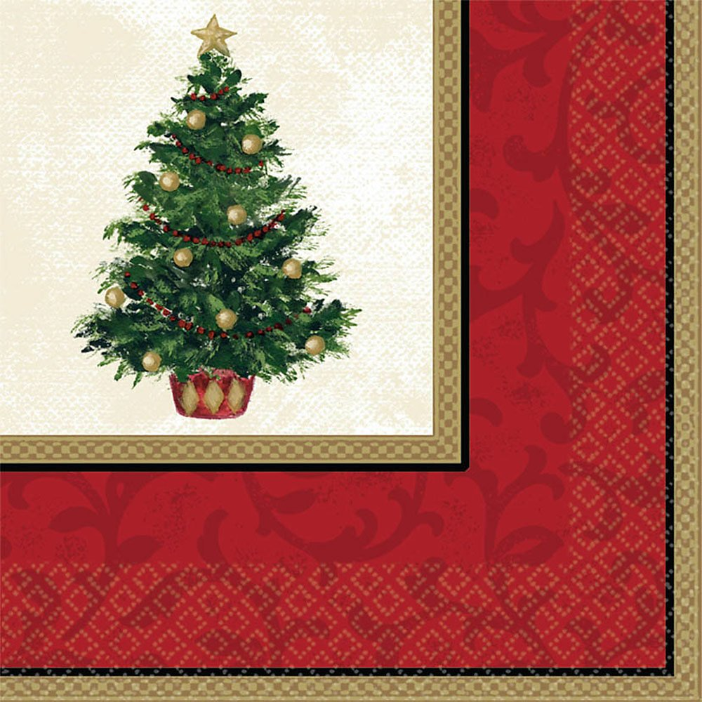 Classic Christmas Tree Lunch Napkins 16ct