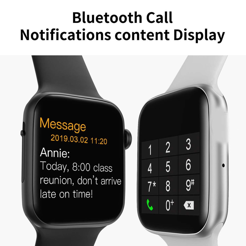 Amazon.com: Iwo 8 Plus/ECG Smart Watch Heart Rate Monitor ...