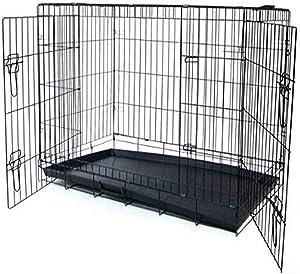 YML 36-Inch 2-Door Heavy Duty Dog Crate, Black
