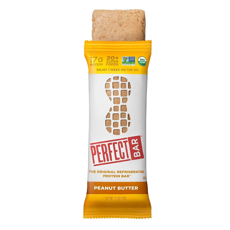 Perfect Bar Original Refrigerated Protein Bar, Peanut Butter, 2.5 Ounce Bar, 8 Count