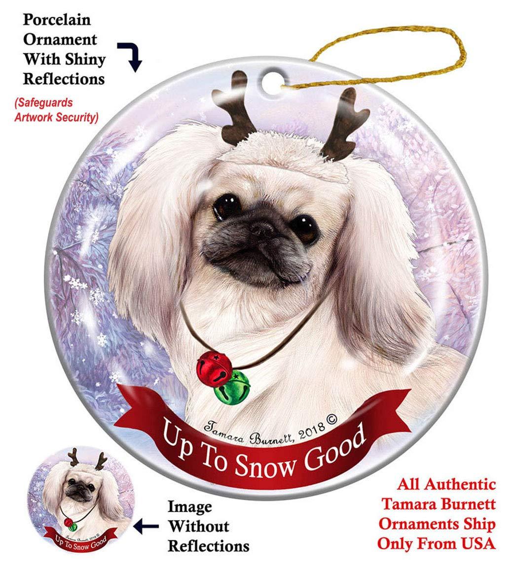 Holiday-Pet-Gifts-Pekingese-White-Dog-Porcelain-Christmas-Ornament