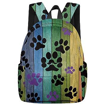 Colorful Pawprints TM School Backpack