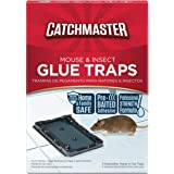 Catchmaster Mouse & Insect Professional Strength Glue Traps - Non Toxic - 16 Glue Trays