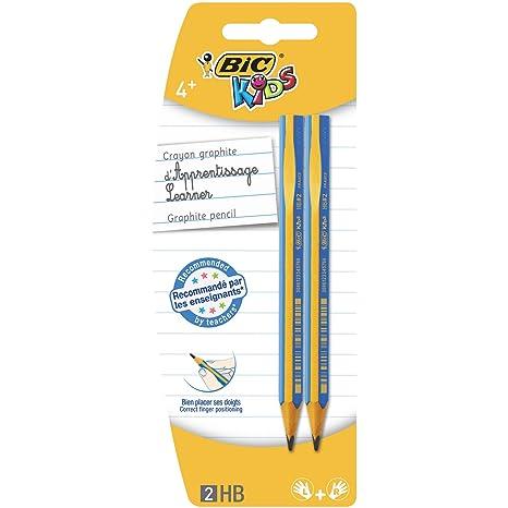 BIC Kids Evolution - Lapicero triangular para aprender a escribir (HB, 2 unidades)