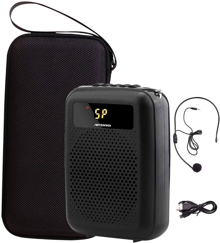Negro Joyhoop Amplificador de voz Port/átil De 12 W,Con amplificador de voz portatil 2200 mAh para Profesor//Gu/ías Tur/ístico//Yoga Profesores//promotoresVentas y m/ás