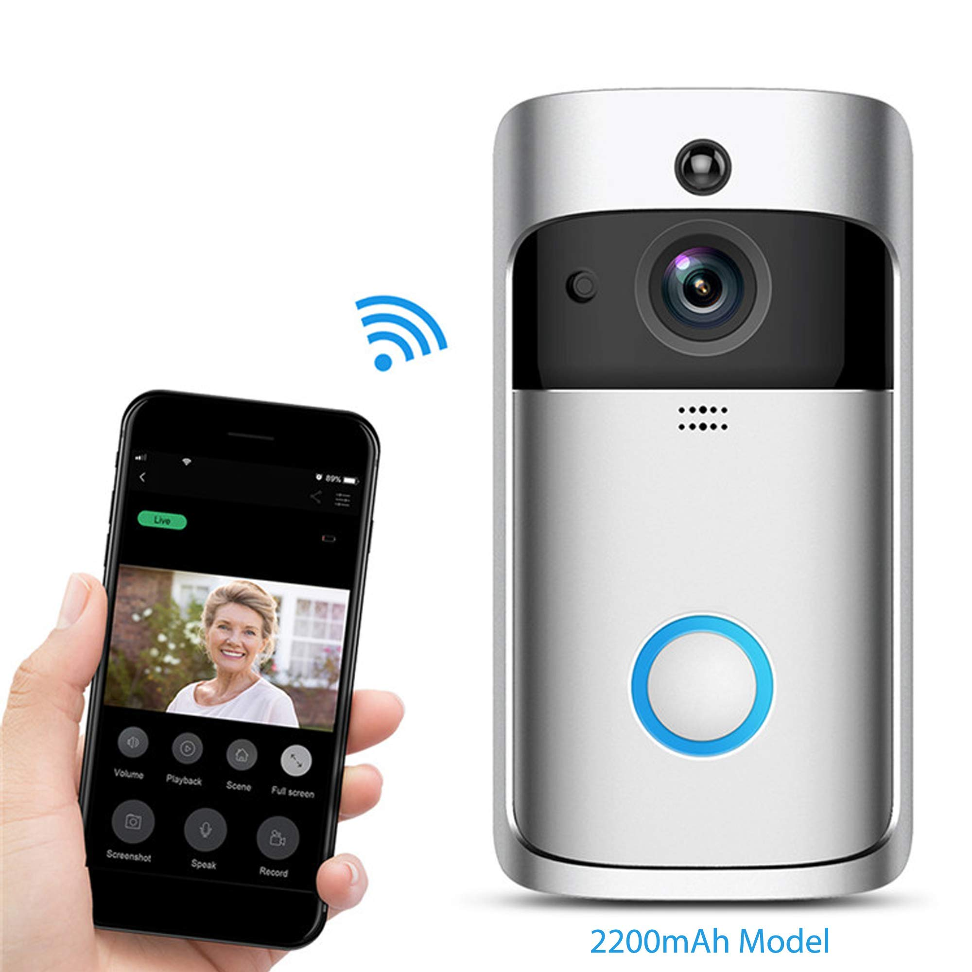 Zeus CCTV Video Doorbell Camera WiFi Battery Powered Home Security Surveillance Camera Mobile Smart Device (Low Power Consumption) by Zeus CCTV