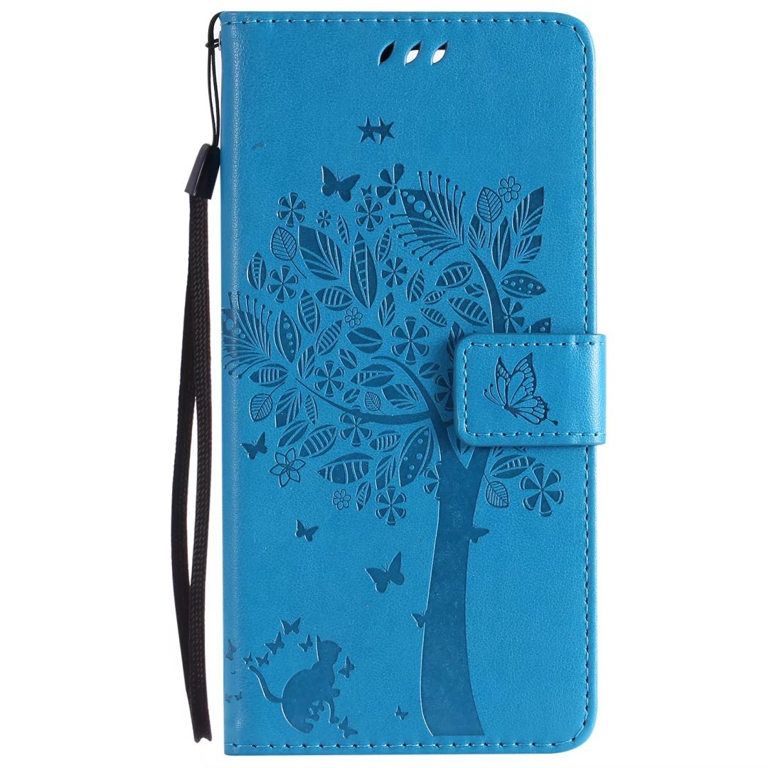 For OnePlus 5T Case Cat /& Tree Ougger Premium PU Leather Flip Stand Wallet Cover Magnetic-Buckle Protective Soft TPU Bumper Case for OnePlus 5T with Card Slot Green