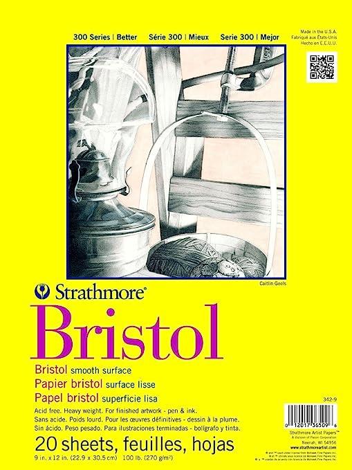 "Strathmore 300 Series Bristol Pad Smooth 9x12/"""