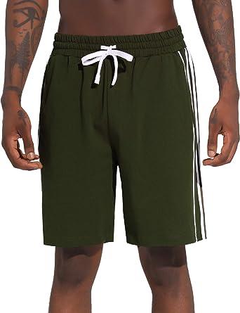 Aibrou Pantalon Corto Hombre Deporte, Pantalones Cortos Chandal Deportivos Verano de Algodón, Deporte Jogger Fitness: Amazon.es: Ropa y accesorios
