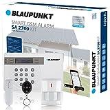 Blaupunkt SA 2700 Smart GSM Funk-Alarmanlage / Funk-Sicherheitssystem mit Bewegungsmelder, Tür/Fenstersensor, Fernbedienung, App / Für Haus, Wohnung, Büro, Geschäft / Farbe Weiß