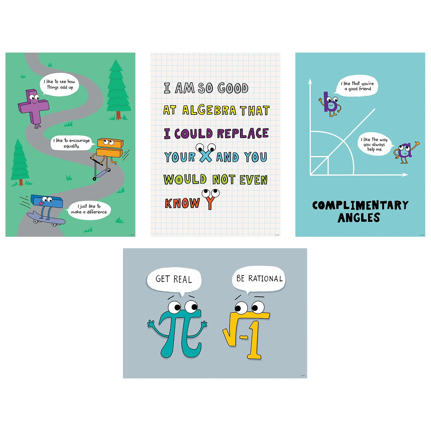 Creative Teaching Press Math So Much Pun! Poster 4-Pack, CTP (8520)