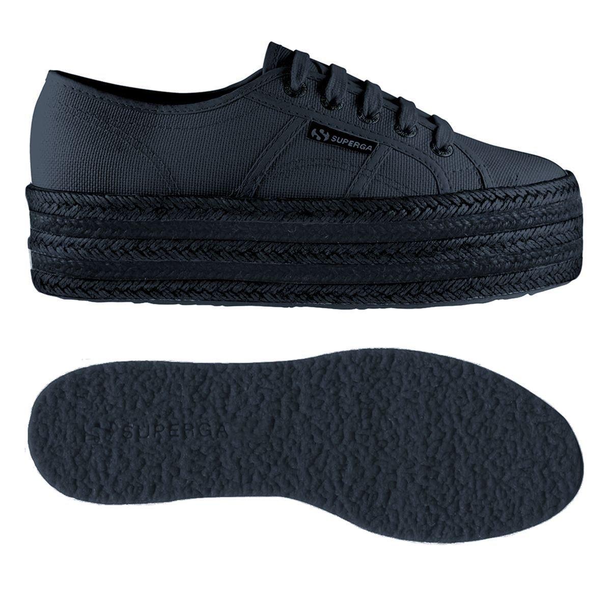 Superga Damen Total 2790-cotcoloropew Sneaker, schwarz Total Damen Navy 89ee3d
