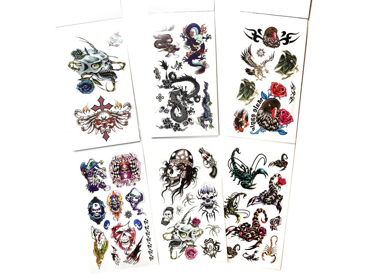 Buy Value Plus 6 Packs Temporary Tattoo Book, Cool Animals
