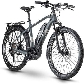 RAYMON Tourray E 6.0 Pedelec - Bicicleta eléctrica de trekking, color gris, color Negro , tamaño 52 cm, tamaño de rueda 27.5: Amazon.es: Deportes y aire libre