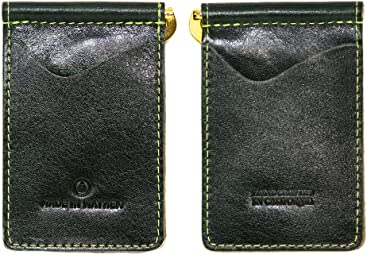 e34558f22f7 Green Leather wallet with money clip. Madison wallet made in USA by Made In  Mayhem