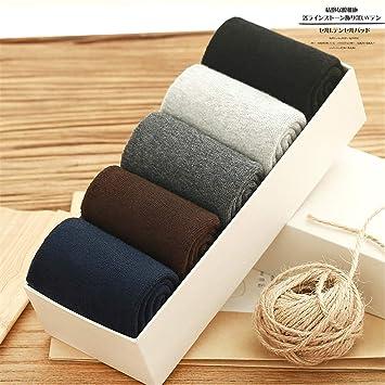 PENG Calcetines para Hombres Otoño Retro Mens Cotton Socks Desodorante algodón el Sudor de Hombres 5