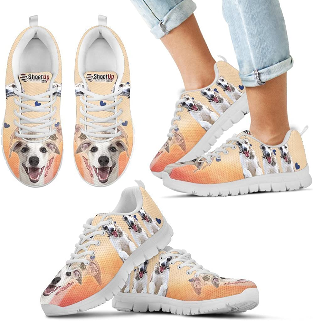 Pet Animal Designs Laughing Whippet Print Running Shoes for Kids