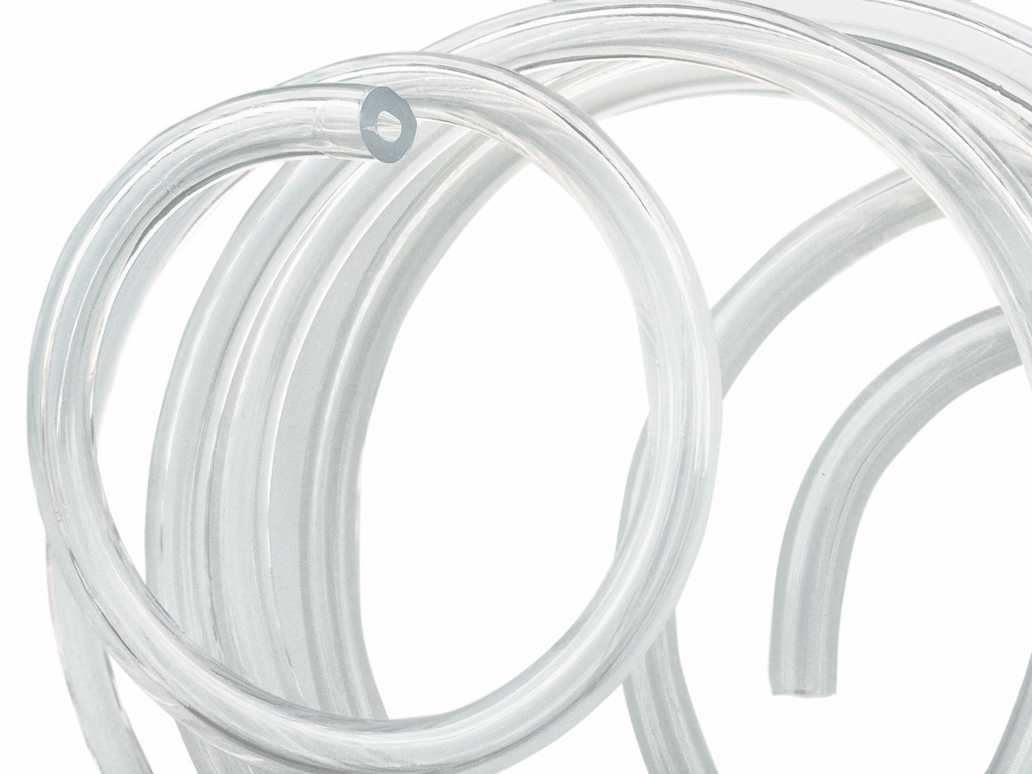 "50 Feet - 3/16"" ID 7/16"" OD Clear Vinyl Tubing FDA Approved Food Grade Multipurpose Tube for Beer Line, Kegerator, Wine Making, Aquaponics, Air Hose by Proper Pour"
