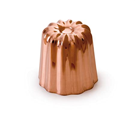 Mauviel Made In France M Passion 4180.55 Canele 2-Inch Mold, Tinned Interior