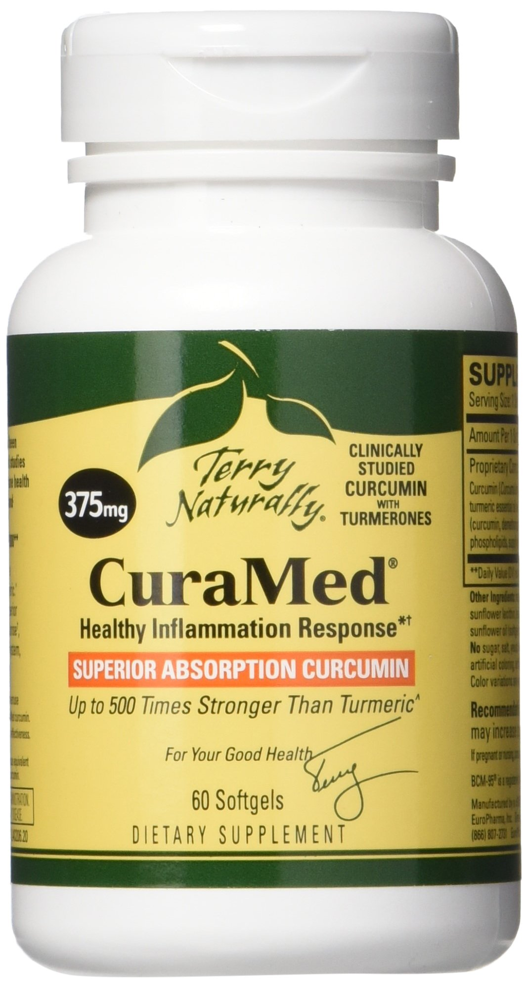 Terry Naturally CuraMed 375 mg, 60 Softgels (FFP)