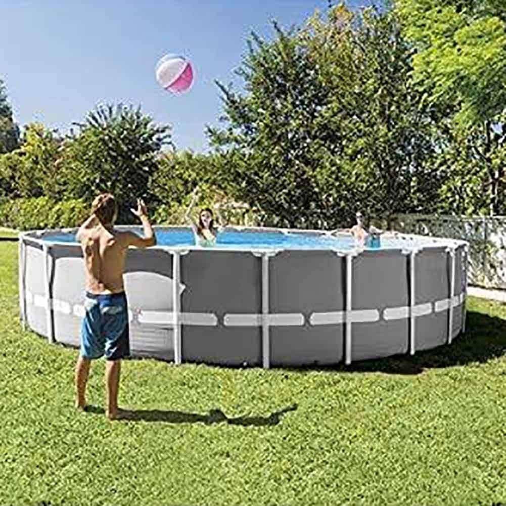 Easy to Build Round Prism Frame Pool Set with Filter Pump Above-Ground Swimming Pool 12030inch