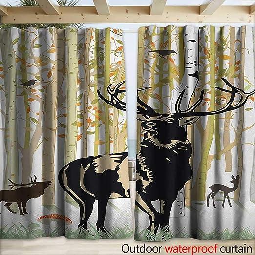 warmfamily Antlers - Pérgola para Patio, diseño de árbol de Ciervo con Hojas voladoras Rojas (108 x 96 cm), Color Rojo, Negro y Gris y Blanco: Amazon.es: Jardín