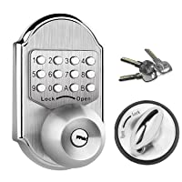 Deals on Elemake Deadbolt Mechanical Keyless Entry Door Lock