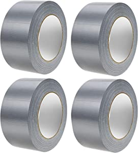 JIRVY Professional Grade Duct Tape Silver Color 4 Roll 11mil Thick(30 Yards x 1.88 inch Wide)