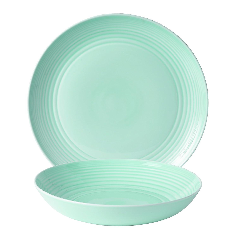 Amazon.com | Royal Doulton 8575021736 Gordon Ramsay Maze Blue 16-Piece Set Dinnerware Sets Glassware \u0026 Drinkware  sc 1 st  Amazon.com & Amazon.com | Royal Doulton 8575021736 Gordon Ramsay Maze Blue 16 ...