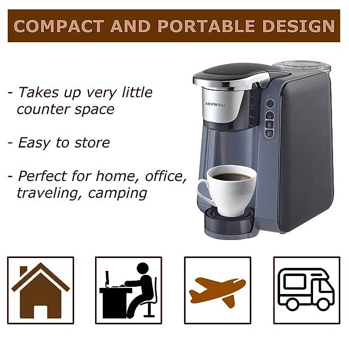 Mixpresso - Cafetera de una sola serie con forma de K para café, compatible con la mayoría de tazas de café de 1 y 2,0 K, tecnología QuickBrew y depósito de ...