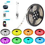 LED Strip Lights Work with Alexa, Google Home, IFTTT, Wifi Wireless Smart Phone Controlled 5M 16.4ft RGB Led Rope Lights Kit