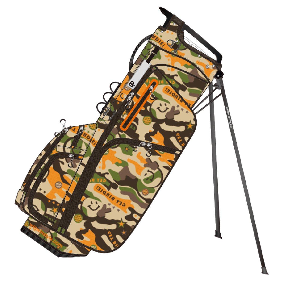 WINWIN STYLE(ウィンウィンスタイル) キャディーバッグ PS SPORTS GET BIRDIE ! Light Weight Stand Bag 9.0型 47インチ対応 ユニセックス CB-901 ブラウン デザイン:総プリント加工   B07B4CFMHG