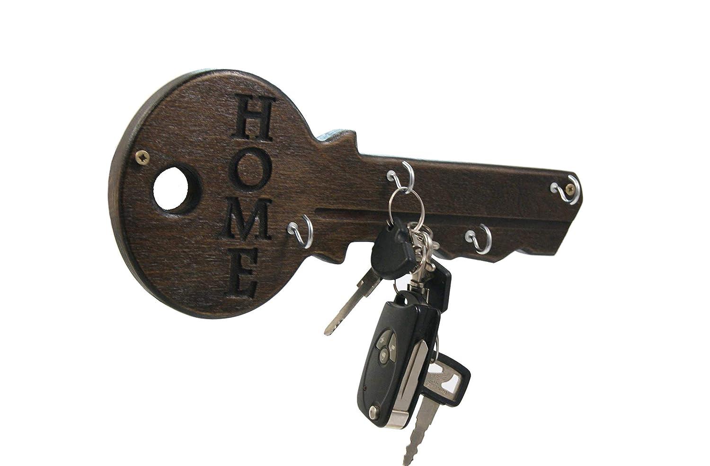 Amazon Com Unique Personalized Wood Key Holder For Wall Key Rack Key Stand Anniversary Gift Housewarming Gift Wall Key Rack Key Keeper Handmade