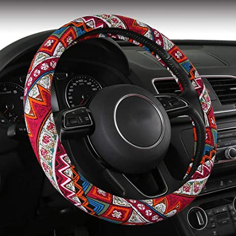 FXP-BOXI05 AUTOJING Bohemian Styling Steering Covers-Multi Colors Steering Wheel Covers,Universal Fits