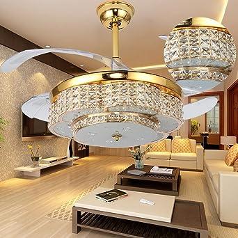 OOFAY Mordern Ventiladores de techo simples e invisibles Lámparas ...