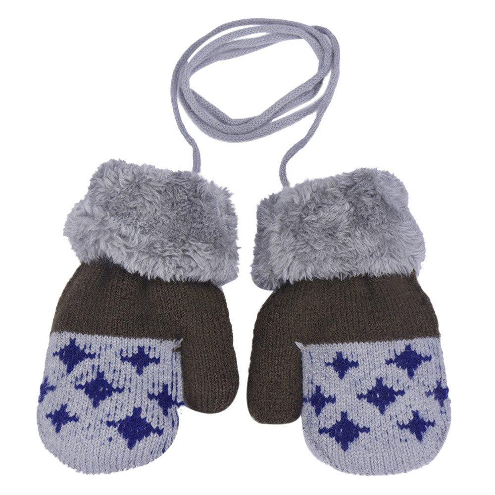 Invierno Bebe Niña Niño Mittens Mochilas Niños Niñas Calientes Guantes Mitones de Punto Calientes Manoplas para Bebé Niños