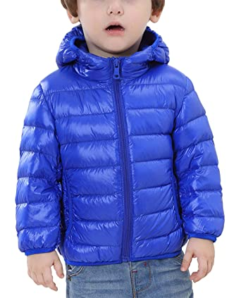HAPPY CHERRY Kinder Junge Mädchen Ultraleichte Daunenjacke mit Kapuze Unisex Kinder Winterjacke Herbst Winter Jacket Warme St