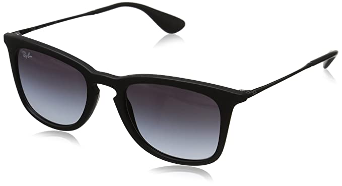 b44960293b Ray-Ban INJECTED MAN SUNGLASS - RUBBER BLACK Frame LIGHT GREY GRADIENT DARK  GREY Lenses