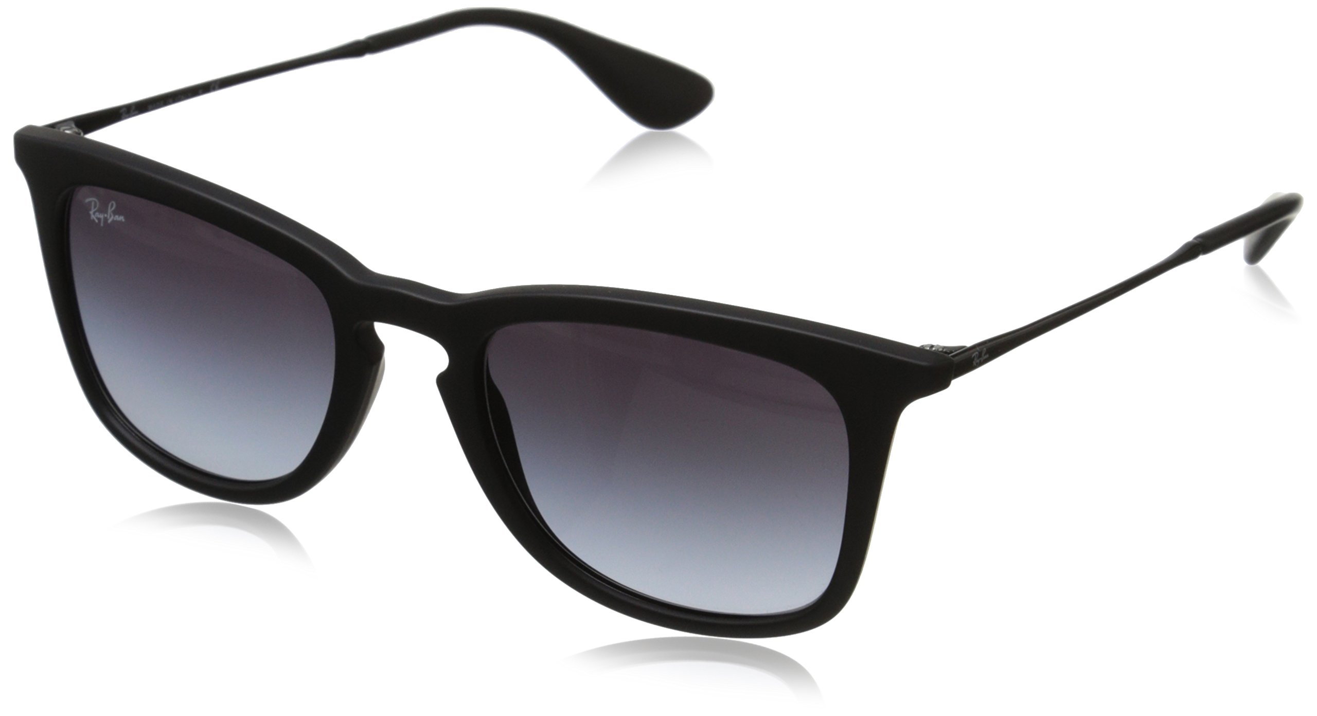 Ray-Ban INJECTED MAN SUNGLASS - RUBBER BLACK Frame LIGHT GREY ...